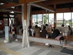 美波町の道の駅日和佐の足湯